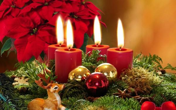 Ароматизированные свечи для Нового года.