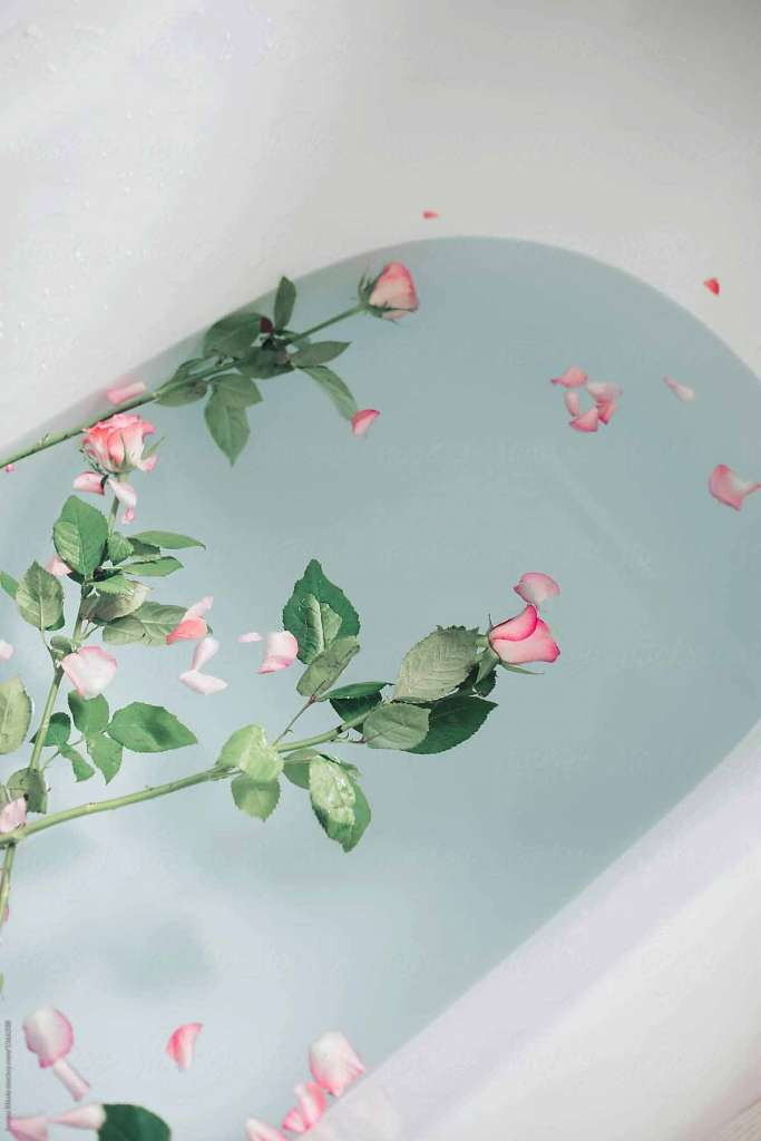 Розы в воде. Как рафинировать розы в ванне.