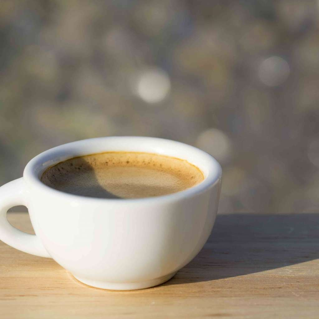 Чашка кофе на солнышке. когда собирать кофе?